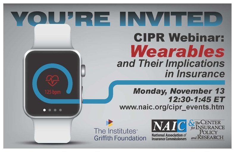 CIPR Webinar: Wearables and Their Implications in Insurance