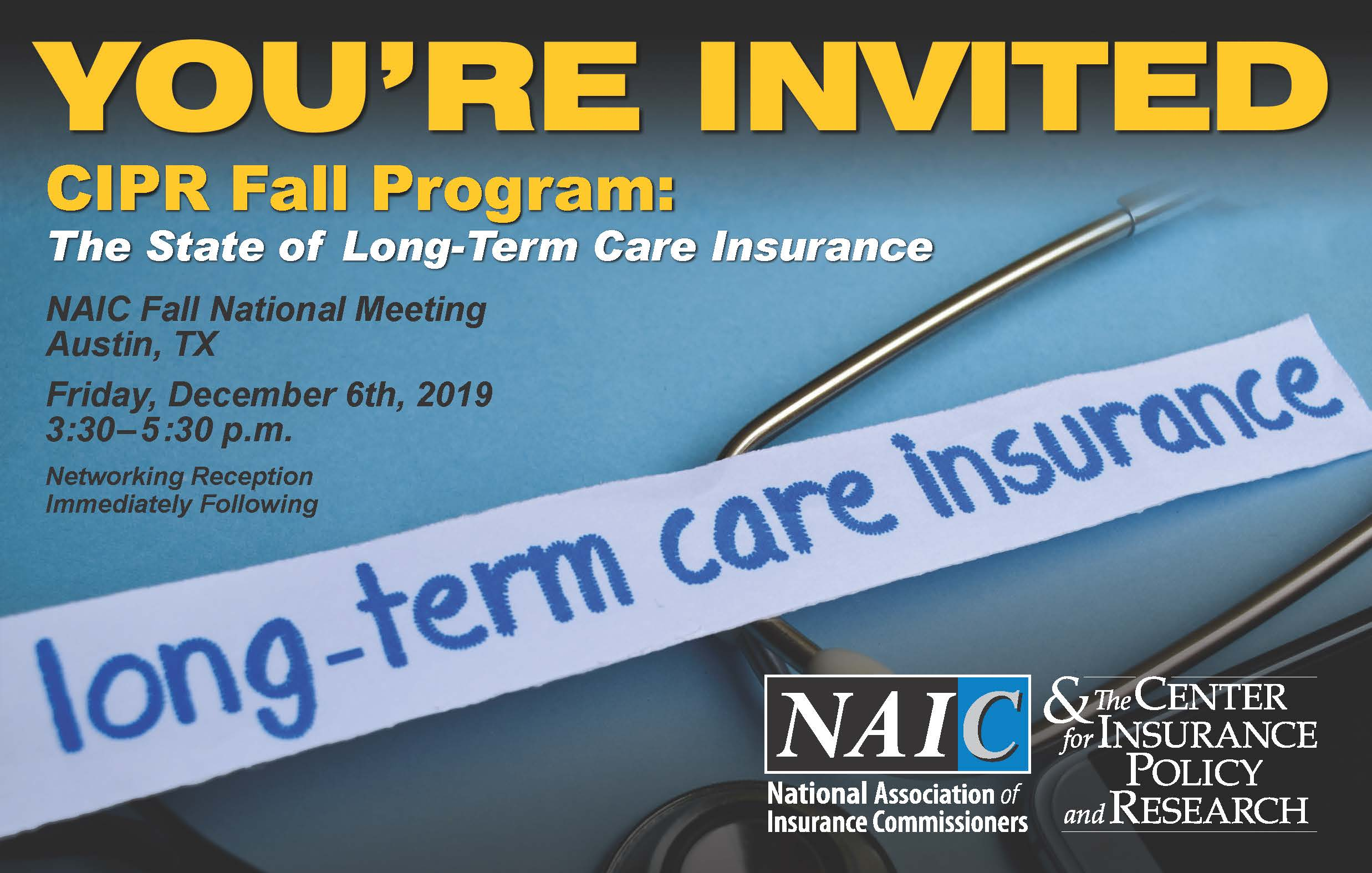 2019_CIPR_Long-Term Care Insurance_You're Invited