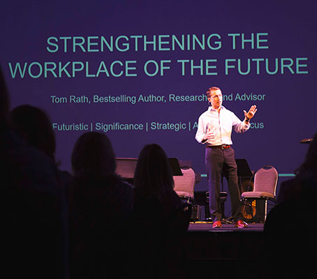 Tom Rath speaking about strengths in the workplace.
