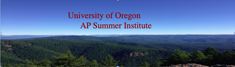2021 Oregon Advanced Placement Summer Institute at Oregon State University