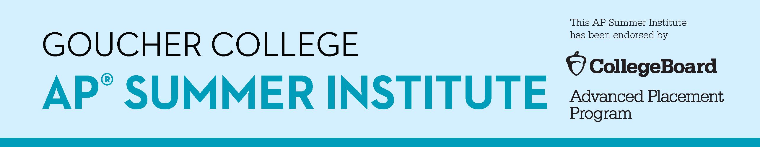 Goucher College Virtual AP Capstone  July 20-24, 2020 (4.5 days)
