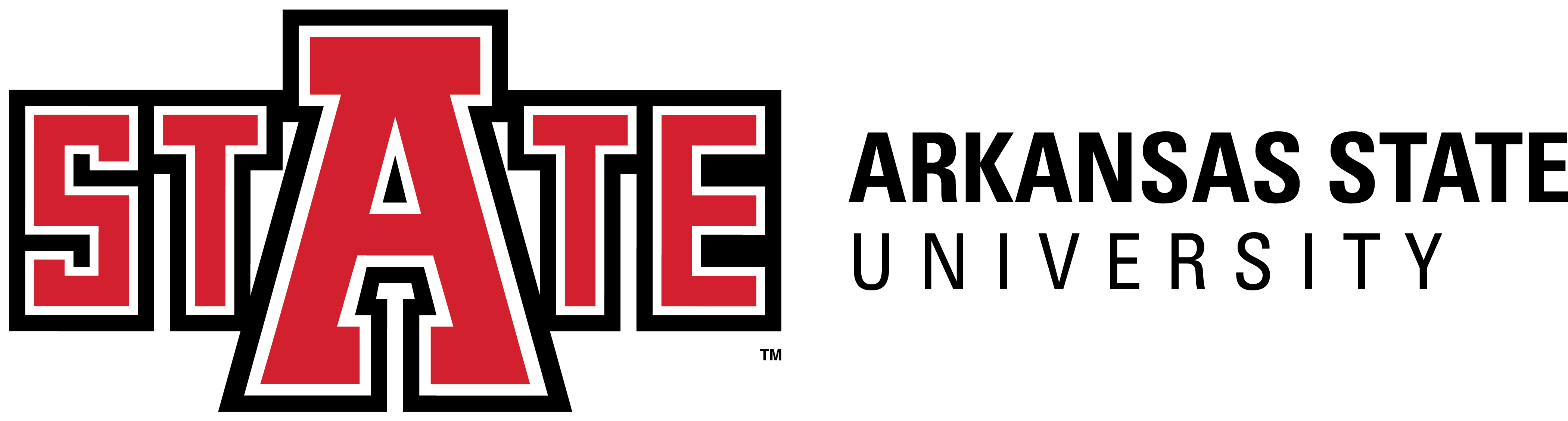 ASTATE UnivLogo_Horiz_2C_Light