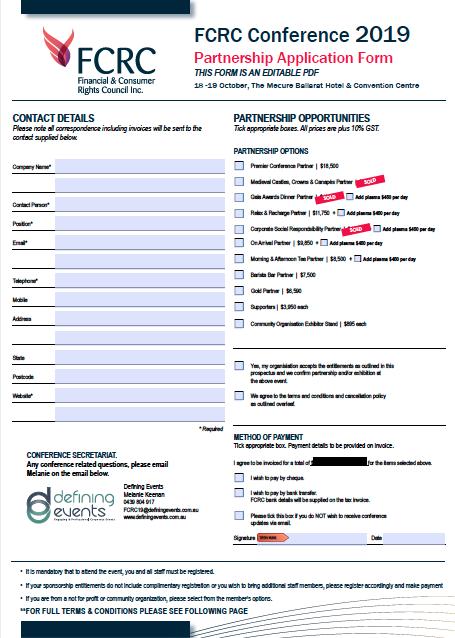 FCRC Form image