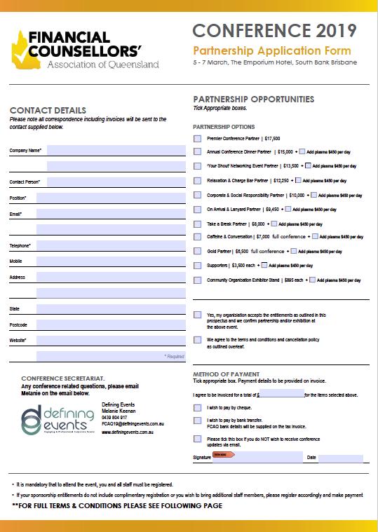 FCAQ Form image