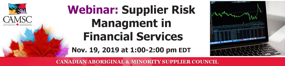 Supplier Risk Management in Financial Services
