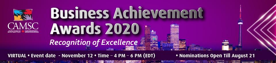 CAMSC Business Achievement Awards 2020