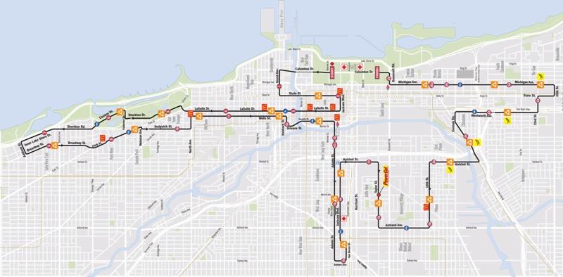 Chicago marathon route