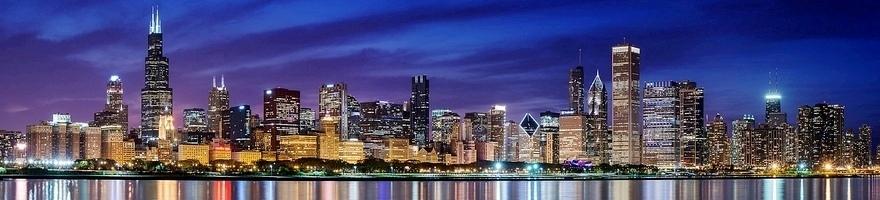 Chicago marathon skyline 2