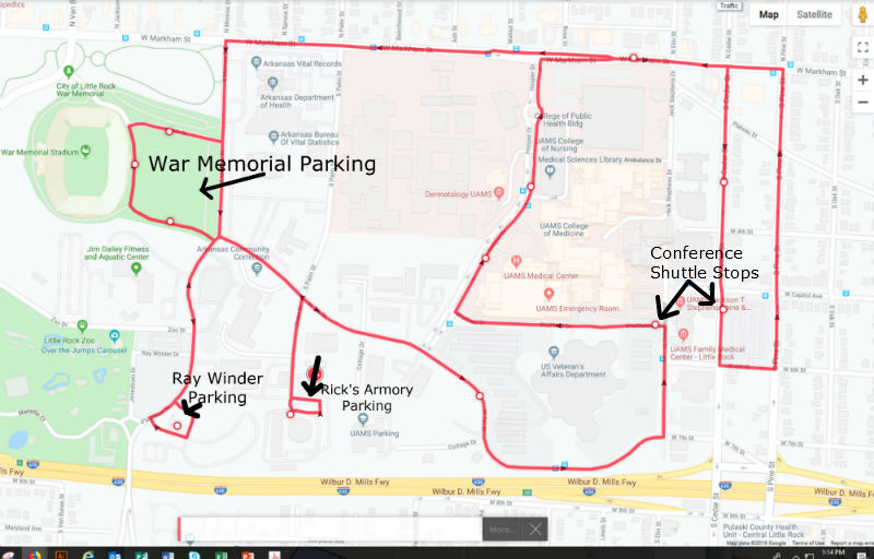 Map of Ray Winder  War Memorial and Ricks Armory Parking 4