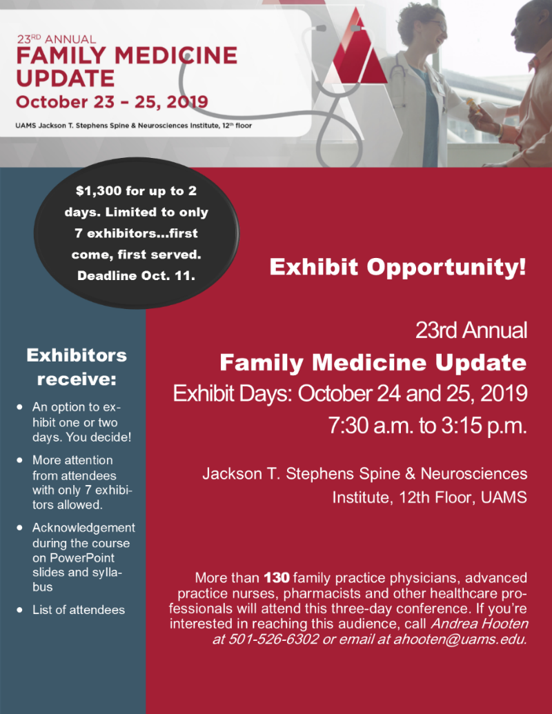 Family Medicine Update 2019 Exhibit Info 1 small