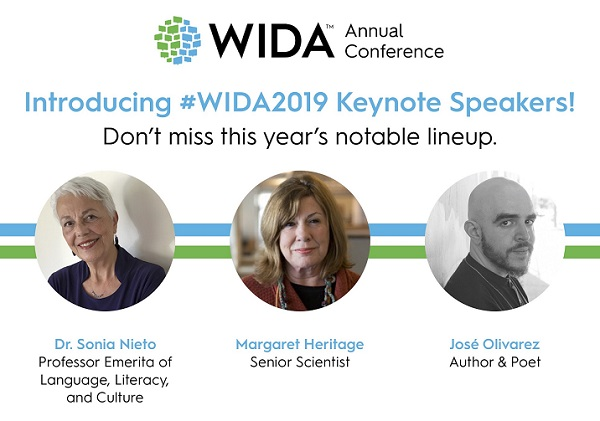 2019 WIDA Annual Conference Keynote Announcement Graphic - Small