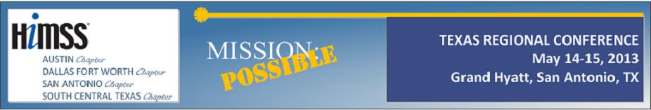 2013 HIMSS Texas Regional Conference Agenda-header