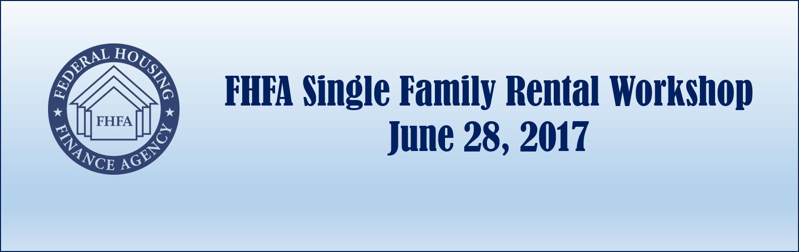 Single-Family Rental Workshop