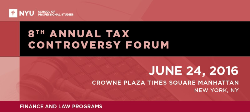 2016 Tax Controversy Forum  Banner