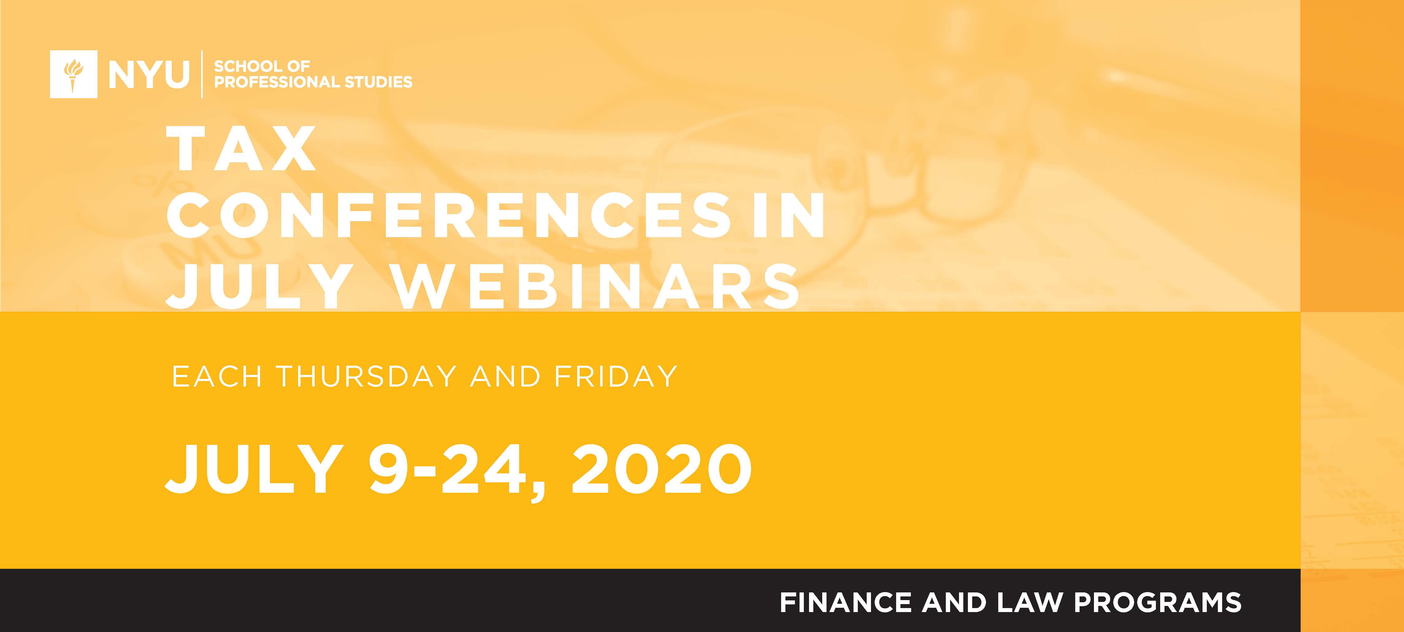 2020 Tax Conferences in July