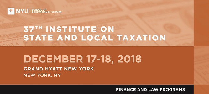 37th Institute on State and Local Taxation