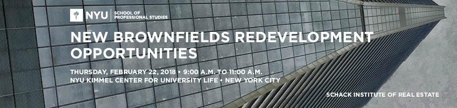 New Brownfields Redevelopment Opportunities