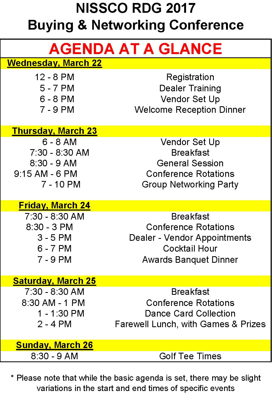 2017 Conference Agenda
