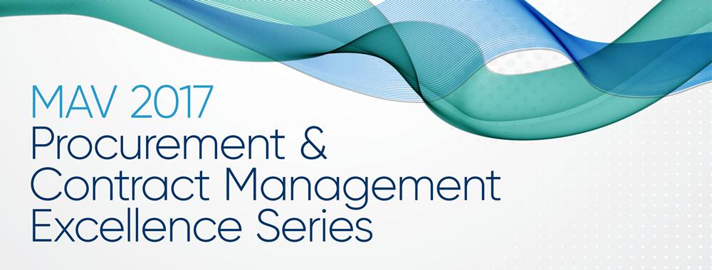 MAV 2017 Procurement & Contract Management Excellence Series