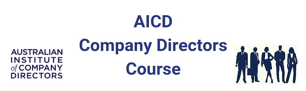 AICD Company Directors Course - Dec 2019