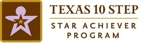 TX 10 Step Star Achiever Logo