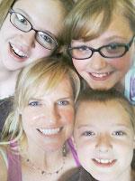 Parent partner Kim Reimann and her family