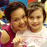 Luz Belleza-Binns and her daughter Mia