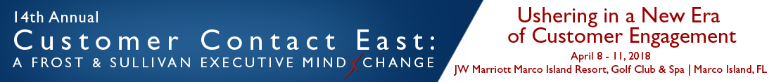 14th Annual Customer Contact East: A Frost & Sullivan Executive MindXchange