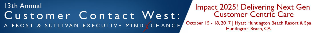 13th Annual Customer Contact West: A Frost & Sullivan Executive MindXchange