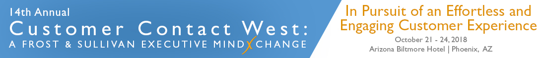 14th Annual Customer Contact West: A Frost & Sullivan Executive MindXchange