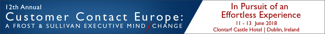 12th Annual Customer Contact Europe: A Frost & Sullivan Executive MindXchange