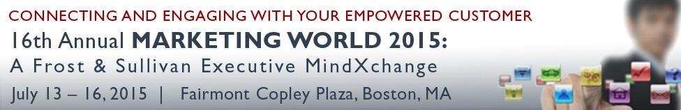 16th Annual MARKETING WORLD 2015: A Frost & Sullivan Executive MindXchange