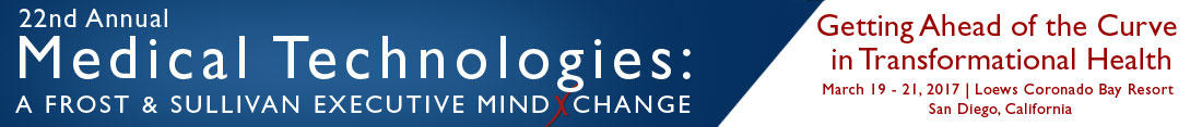 22nd Annual Medical Technologies: A Frost & Sullivan Executive MindXchange