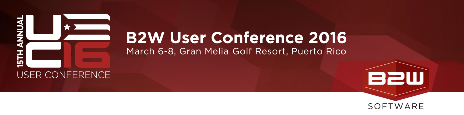 B2W Software's User Conference 2016