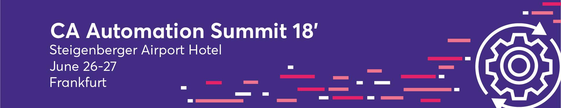 CA Automation Summit 2018