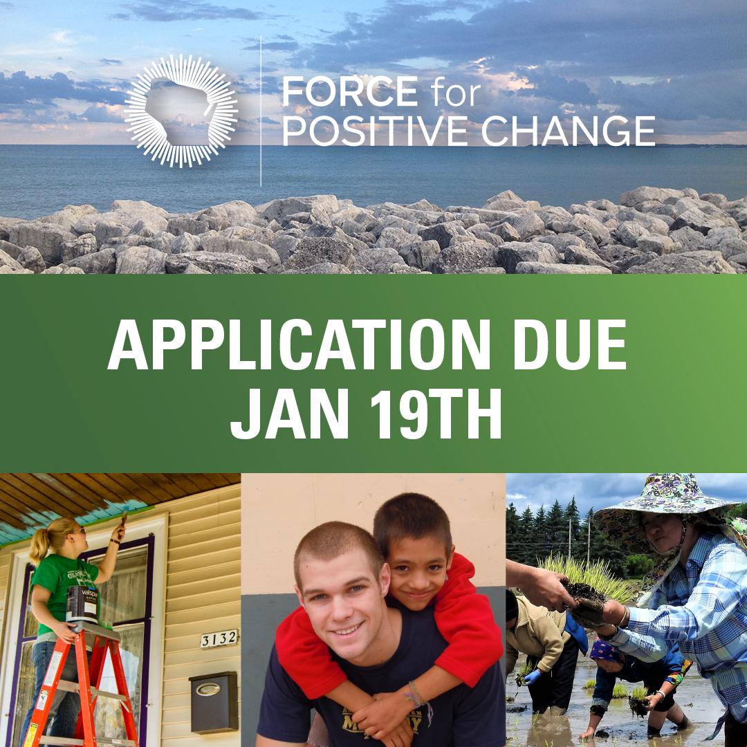 Force for Positive Change Application Deadline