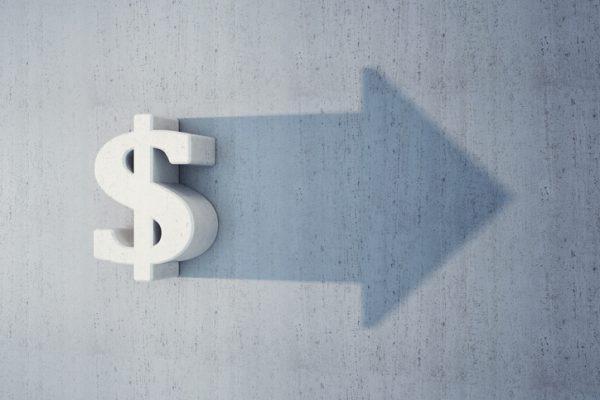 Dollar sign arrow