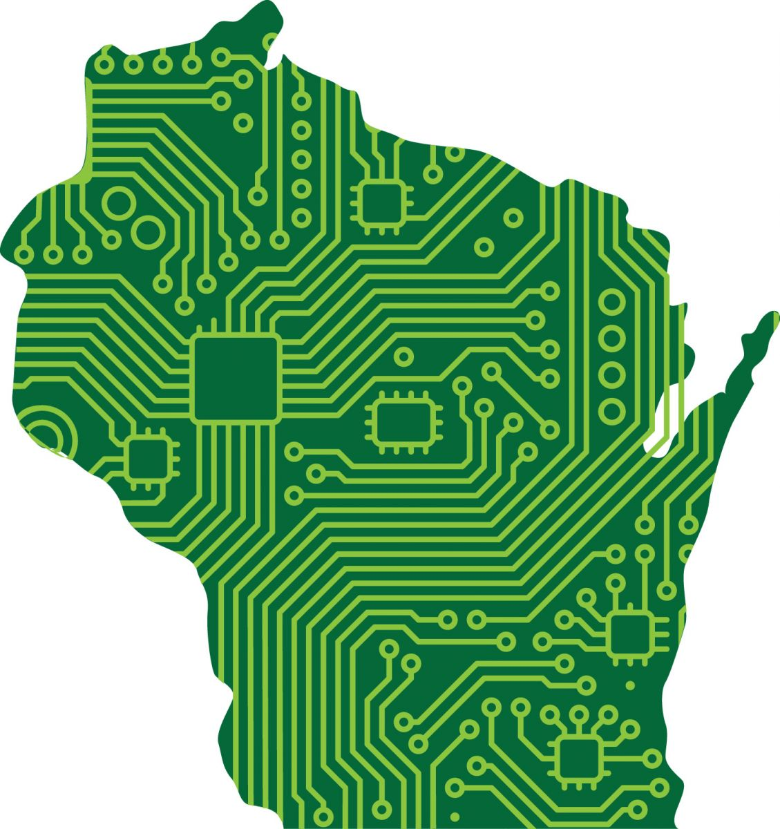 digital wisconsin map