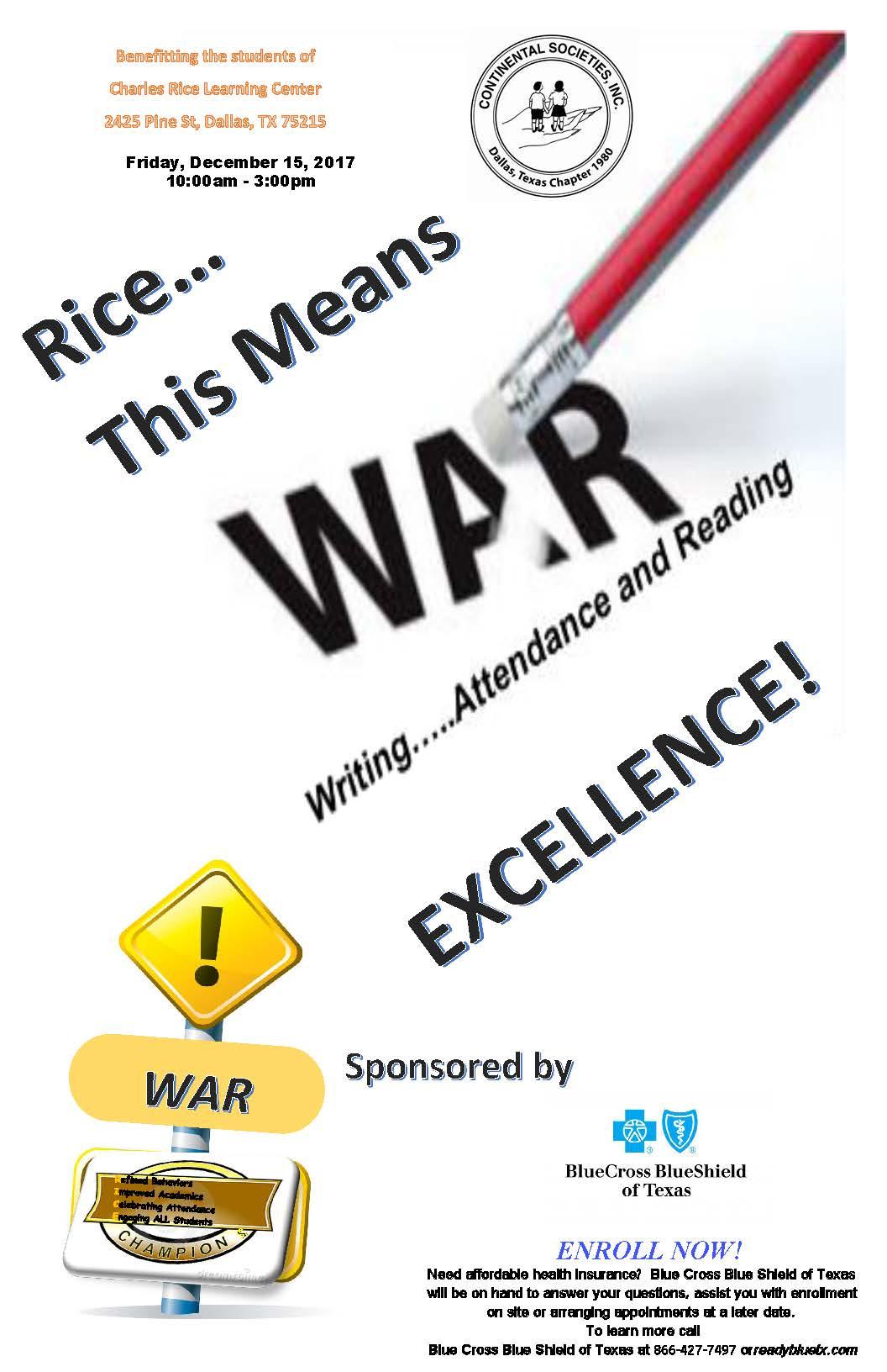 WAR Flyer
