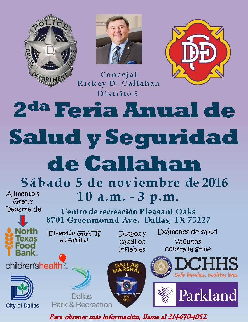Callahan's 2nd Safety  Health Fair 2016 SPANISH