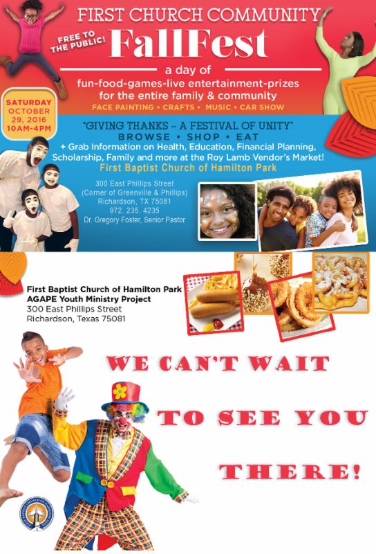 First Baptist Church Flyer