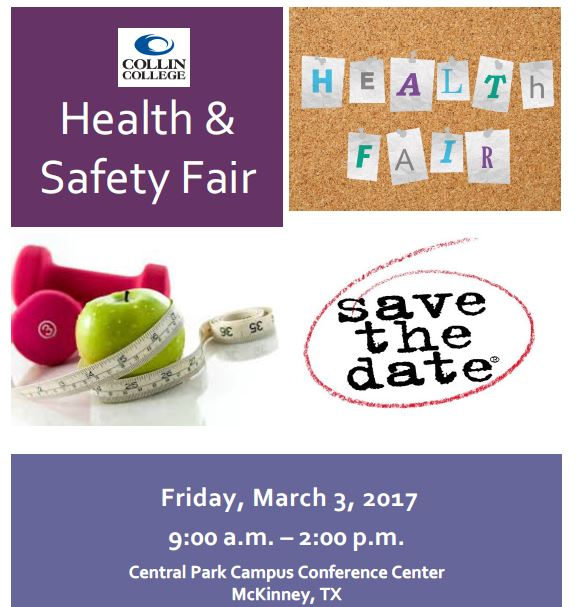 Collin College Health & Safety Fair 3.3.17