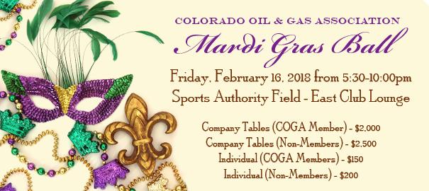 COGA Mardi Gras Ball - 2018