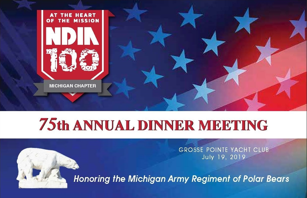 2019 NDIA Michigan Chapter Annual Dinner Meeting