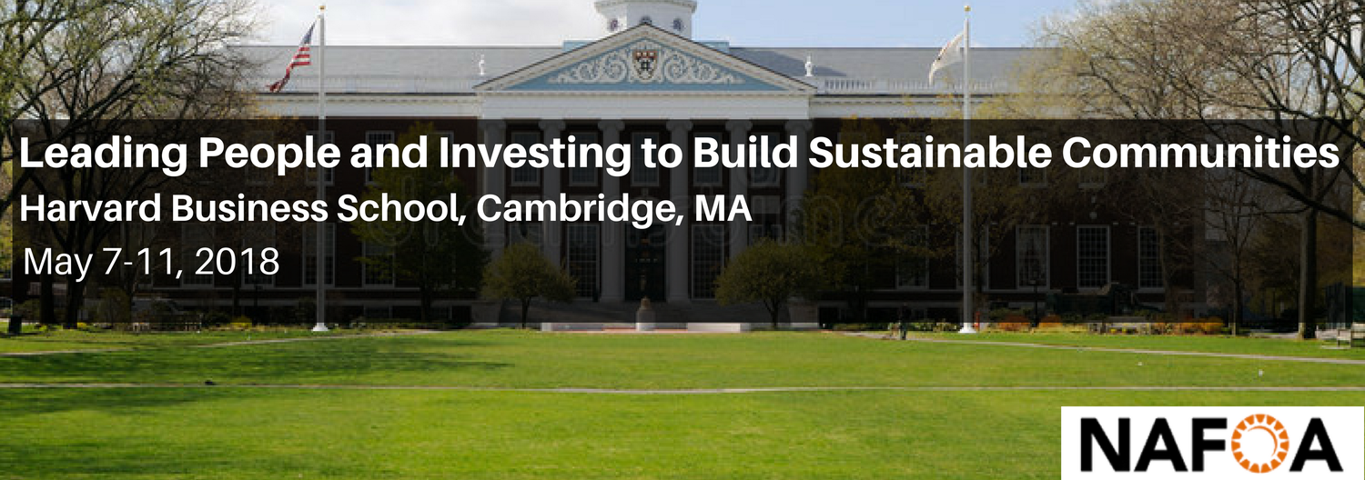 Leading People and Investing to Build Sustainable Communities
