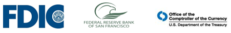 FDIC FRB-SF OCC Logos