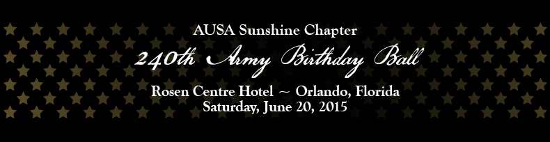 2015 Association of the United States  Army's 240th Birthday Ball - Sunshine Chapter