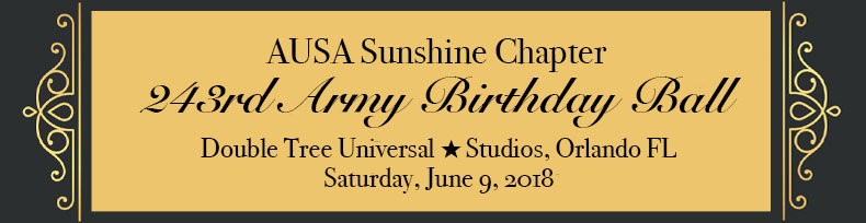 2018 Association of the United States  Army's 243rd  Birthday Ball - Sunshine Chapter