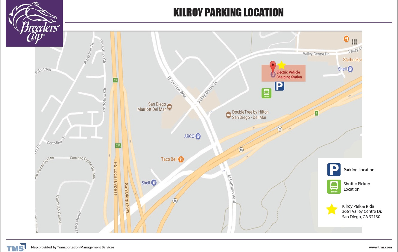 Kilroy Parking Location