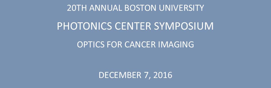 20th Annual Photonics Center Symposium